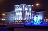 освещение фасадов в Новосибирске