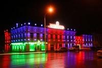 Наружное освещение: архитектурное освещение зданий, фасадов дома в Новосибирске